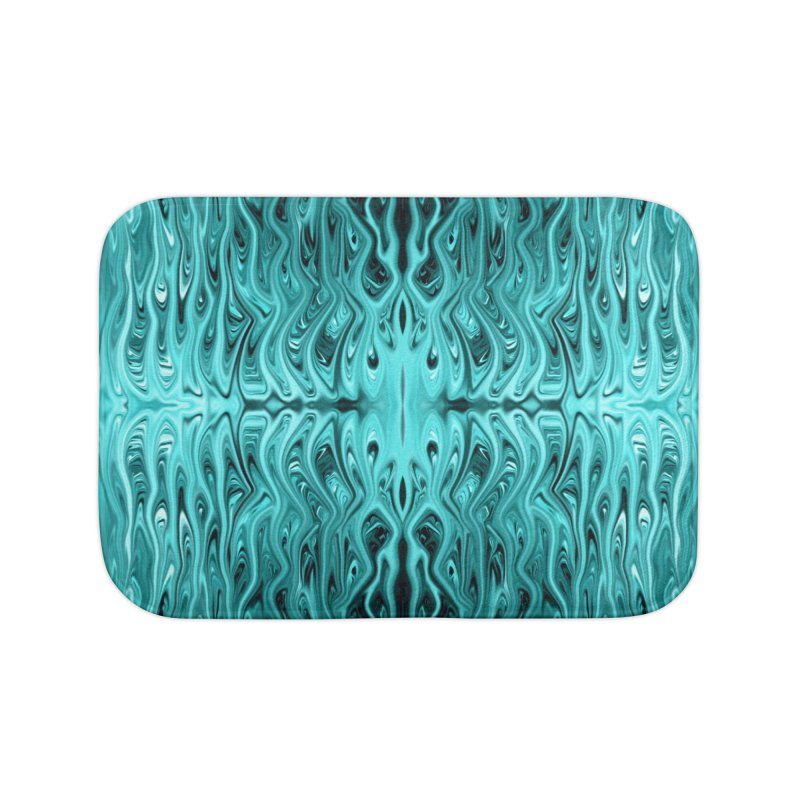 Aqua Squid by Chris Sparks Home Bath Mat by Chris Sparks' Abstract Art Shop