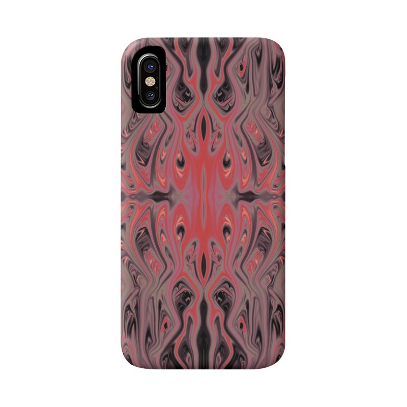 Ash & Cinder Squid by Chris Sparks Accessories Phone Case by Chris Sparks' Abstract Art Shop