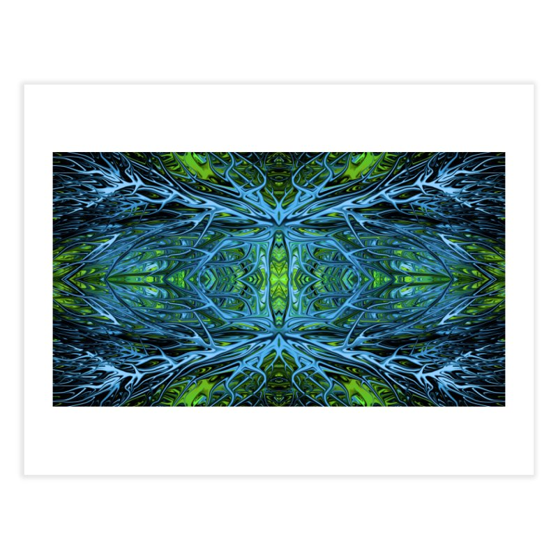 Emerald Lightning Firegrass I by Chris Sparks Home Fine Art Print by Chris Sparks' Abstract Art Shop