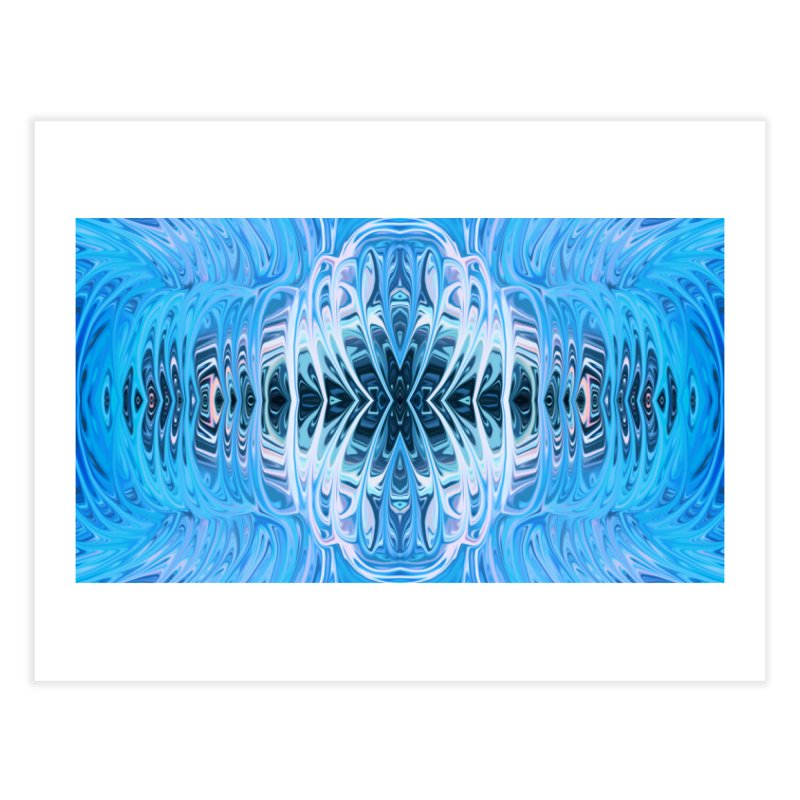 Aqua Venus Love Trap III by Chris Sparks Home Fine Art Print by Chris Sparks' Abstract Art Shop