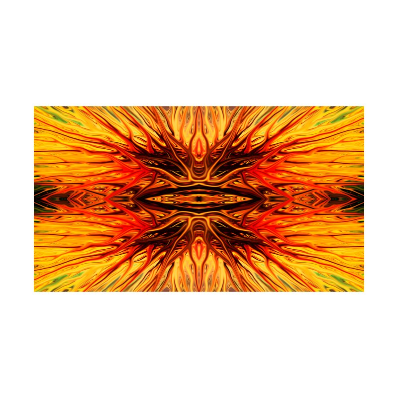 Orange Firethorn I by Chris Sparks by Chris Sparks' Abstract Art Shop