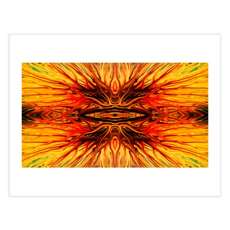 Orange Firethorn I by Chris Sparks Home Fine Art Print by Chris Sparks' Abstract Art Shop