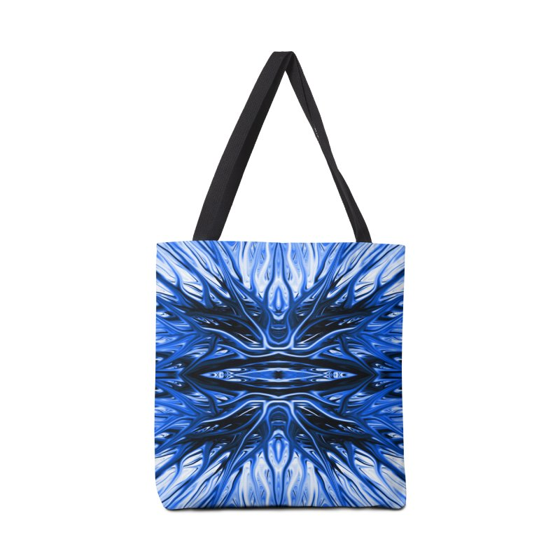 Blueberry Firethorn I by Chris Sparks Accessories Bag by Chris Sparks' Abstract Art Shop