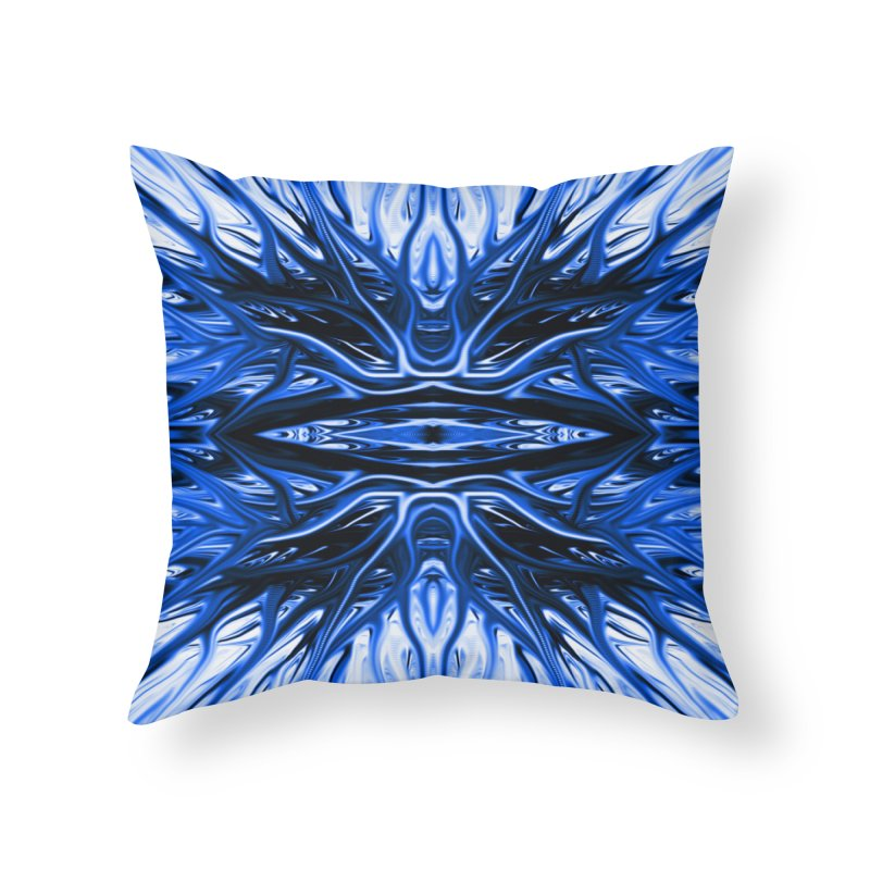 Blueberry Firethorn I by Chris Sparks Home Throw Pillow by Chris Sparks' Abstract Art Shop