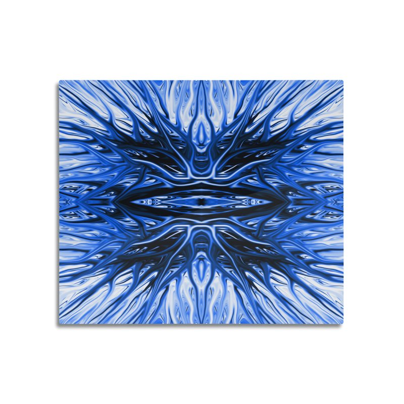 Blueberry Firethorn I by Chris Sparks Home Mounted Aluminum Print by Chris Sparks' Abstract Art Shop