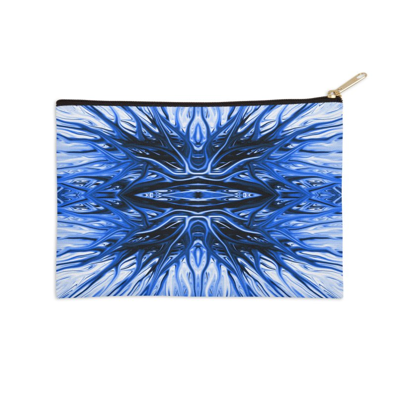 Blueberry Firethorn I by Chris Sparks Accessories Zip Pouch by Chris Sparks' Abstract Art Shop