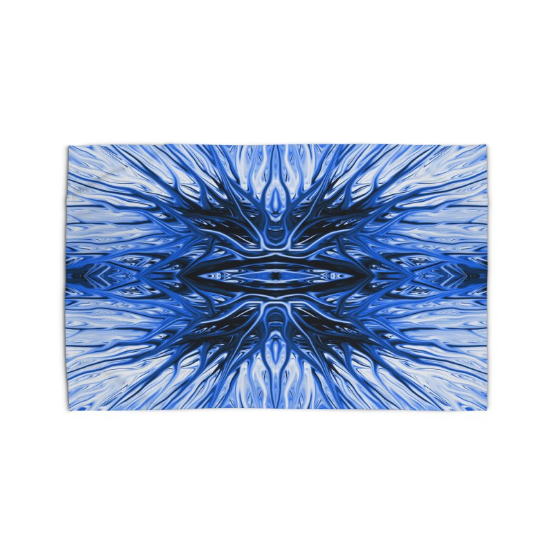 Blueberry Firethorn I by Chris Sparks Home Rug by Chris Sparks' Abstract Art Shop