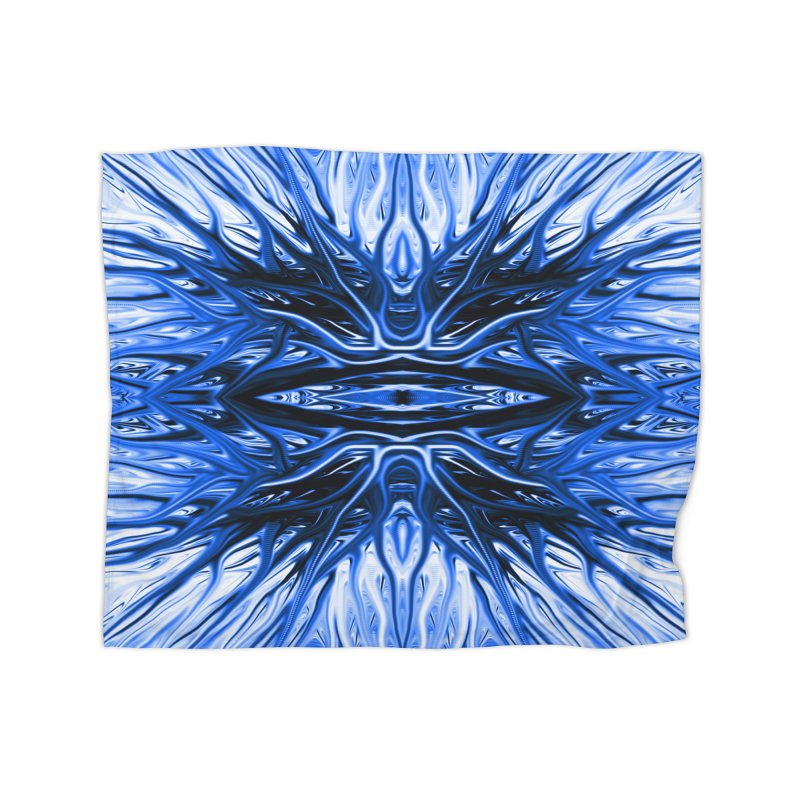 Blueberry Firethorn I by Chris Sparks Home Fleece Blanket Blanket by Chris Sparks' Abstract Art Shop