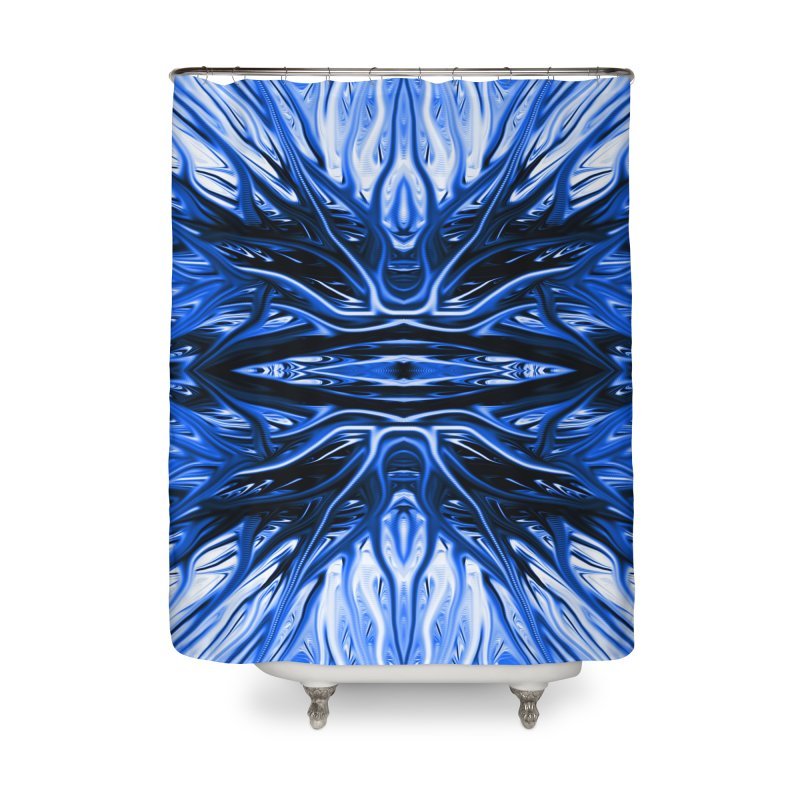 Blueberry Firethorn I by Chris Sparks Home Shower Curtain by Chris Sparks' Abstract Art Shop