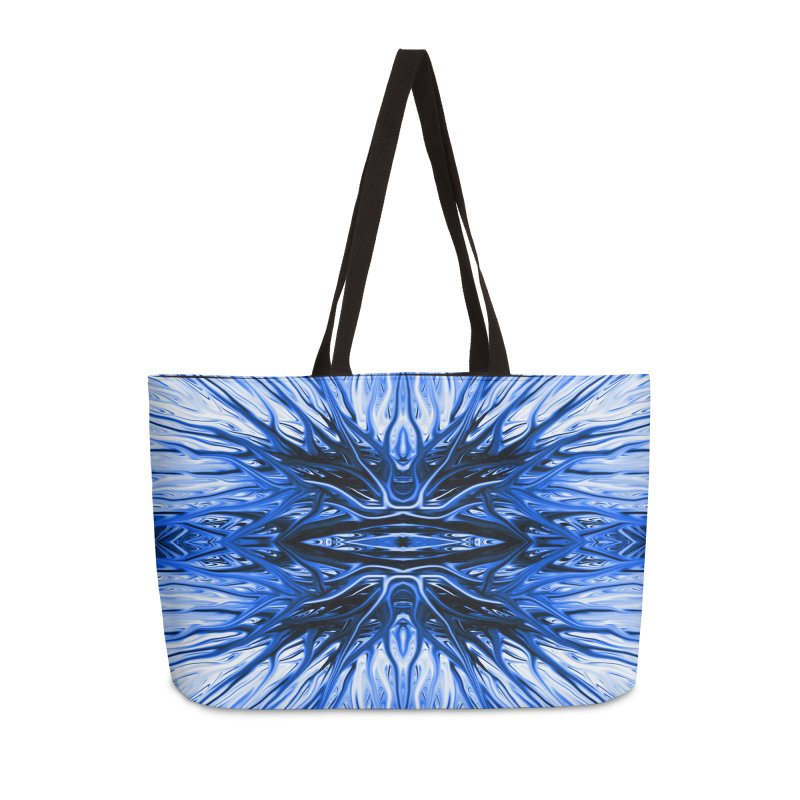 Blueberry Firethorn I by Chris Sparks Accessories Weekender Bag Bag by Chris Sparks' Abstract Art Shop
