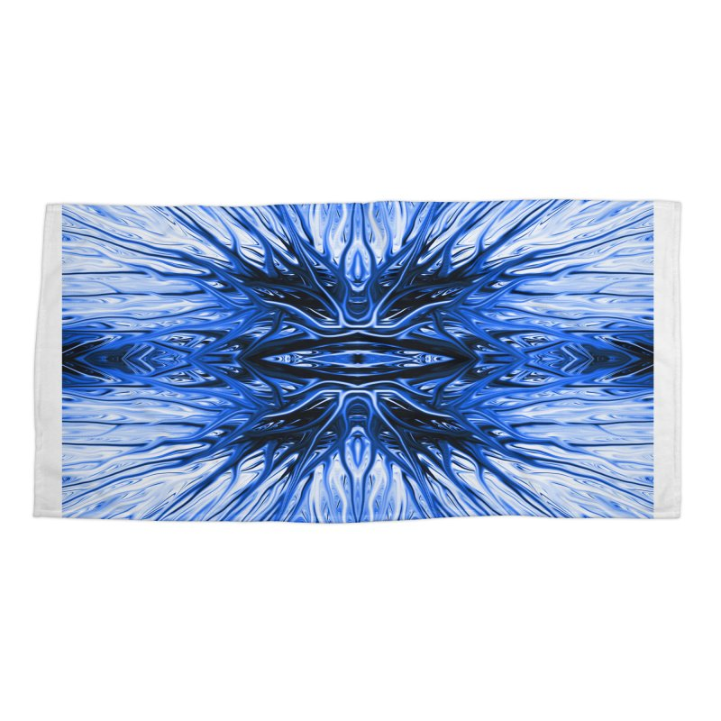 Blueberry Firethorn I by Chris Sparks Accessories Beach Towel by Chris Sparks' Abstract Art Shop