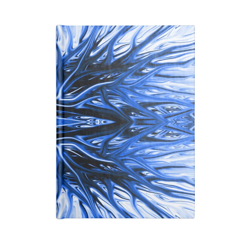Blueberry Firethorn I by Chris Sparks Accessories Blank Journal Notebook by Chris Sparks' Abstract Art Shop