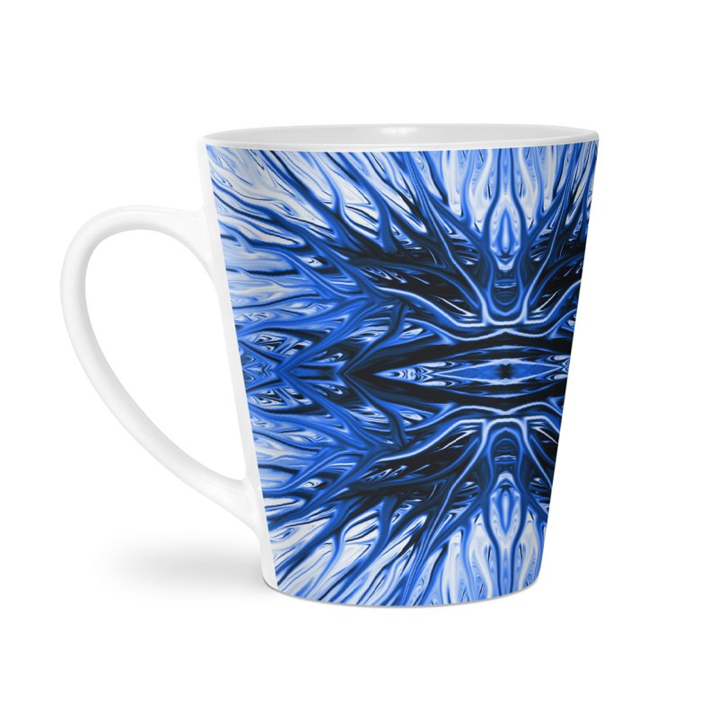 Blueberry Firethorn I by Chris Sparks Accessories Latte Mug by Chris Sparks' Abstract Art Shop