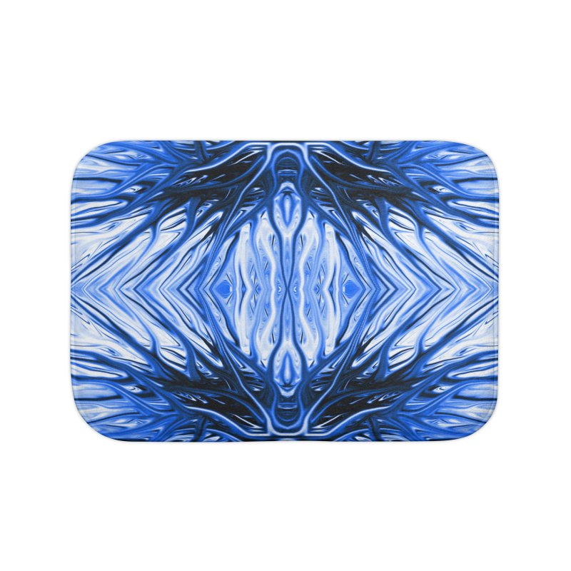 Blueberry Firethorn II by Chris Sparks Home Bath Mat by Chris Sparks' Abstract Art Shop