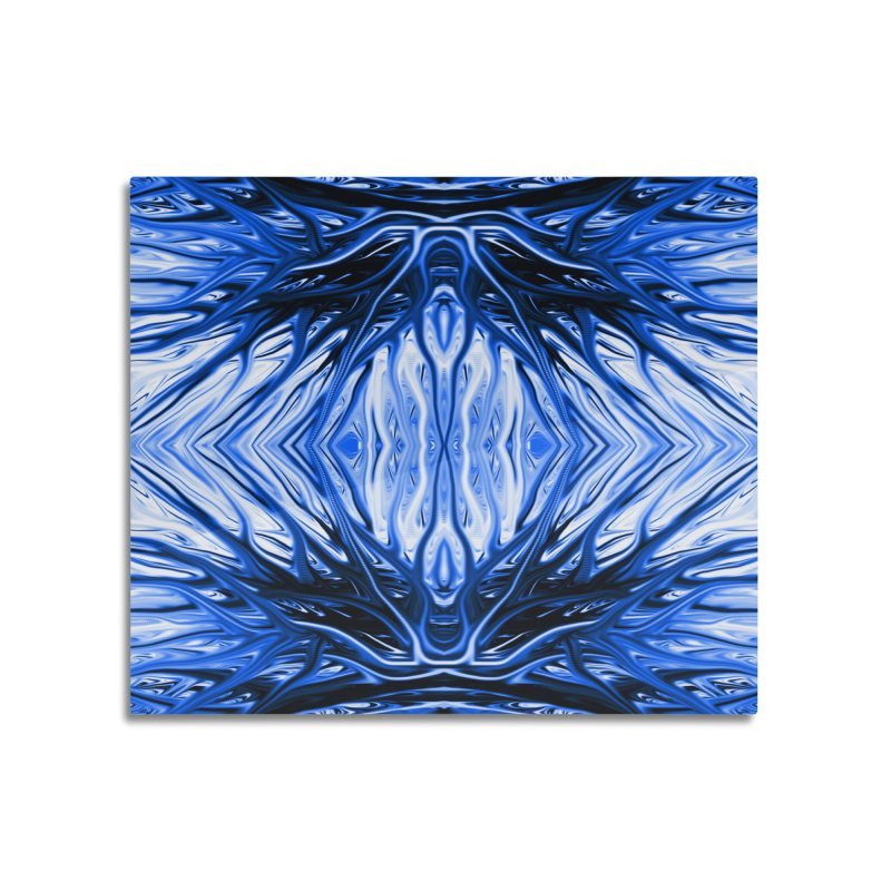 Blueberry Firethorn II by Chris Sparks Home Mounted Aluminum Print by Chris Sparks' Abstract Art Shop