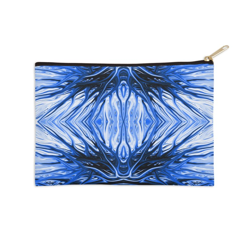 Blueberry Firethorn II by Chris Sparks Accessories Zip Pouch by Chris Sparks' Abstract Art Shop
