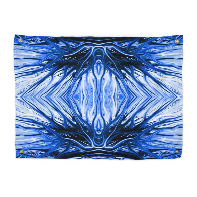Blueberry Firethorn II by Chris Sparks Home Tapestry by Chris Sparks' Abstract Art Shop