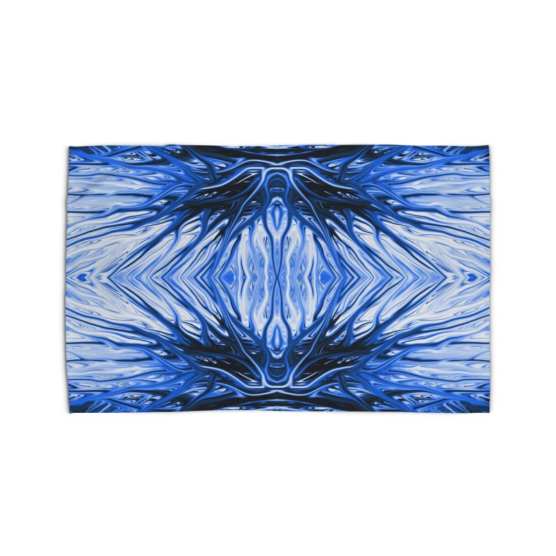 Blueberry Firethorn II by Chris Sparks Home Rug by Chris Sparks' Abstract Art Shop