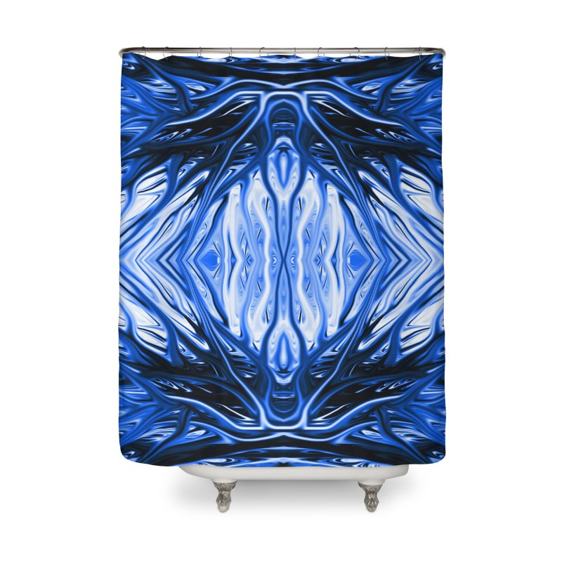 Blueberry Firethorn II by Chris Sparks Home Shower Curtain by Chris Sparks' Abstract Art Shop