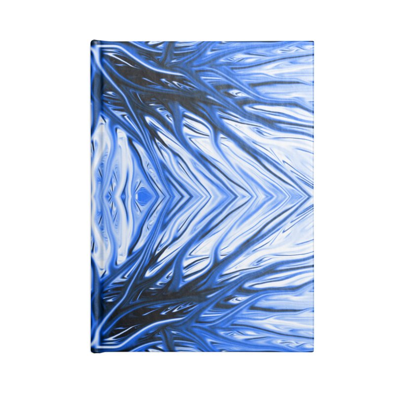 Blueberry Firethorn II by Chris Sparks Accessories Blank Journal Notebook by Chris Sparks' Abstract Art Shop