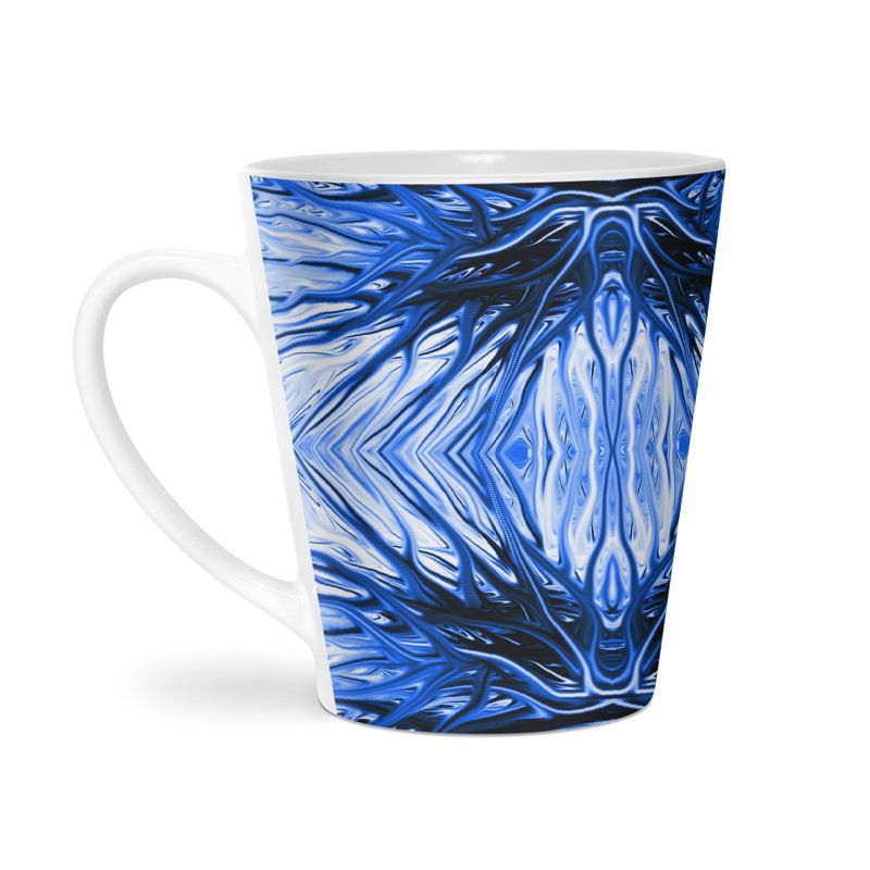 Blueberry Firethorn II by Chris Sparks Accessories Latte Mug by Chris Sparks' Abstract Art Shop