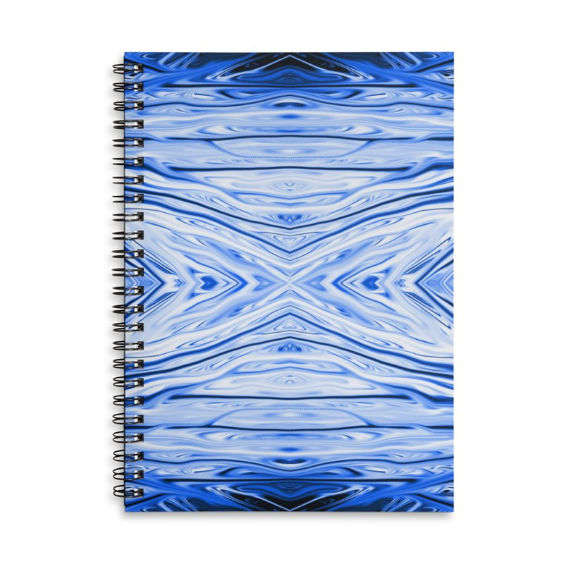 Blueberry Firethorn III by Chris Sparks Accessories Lined Spiral Notebook by Chris Sparks' Abstract Art Shop