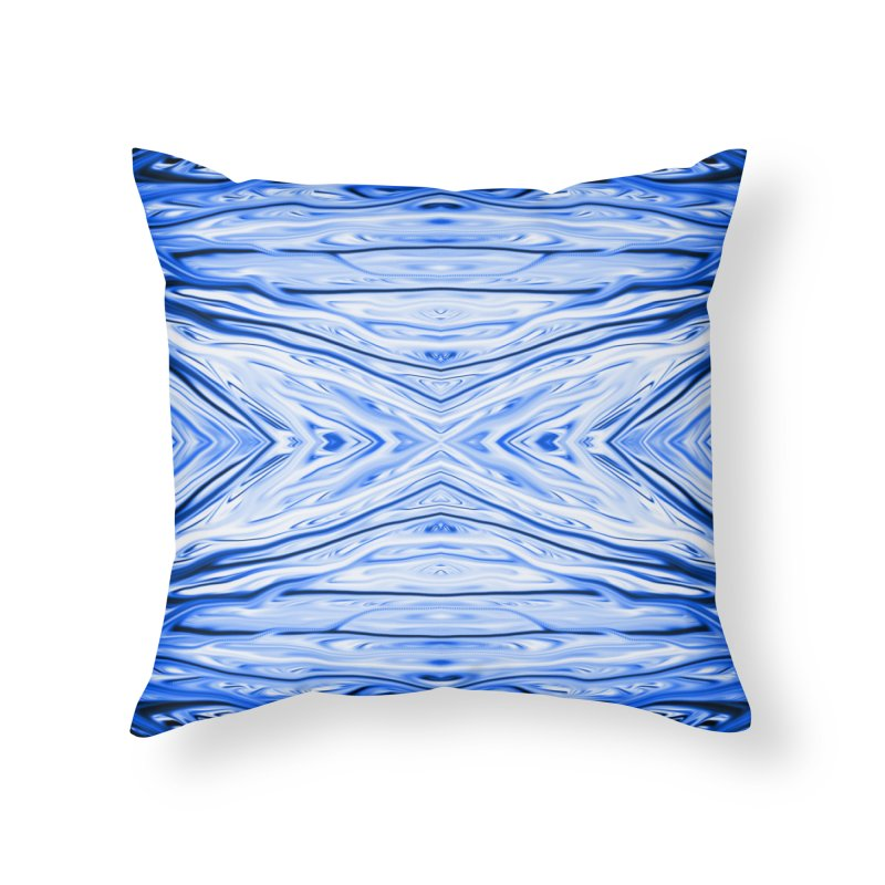 Blueberry Firethorn III by Chris Sparks Home Throw Pillow by Chris Sparks' Abstract Art Shop