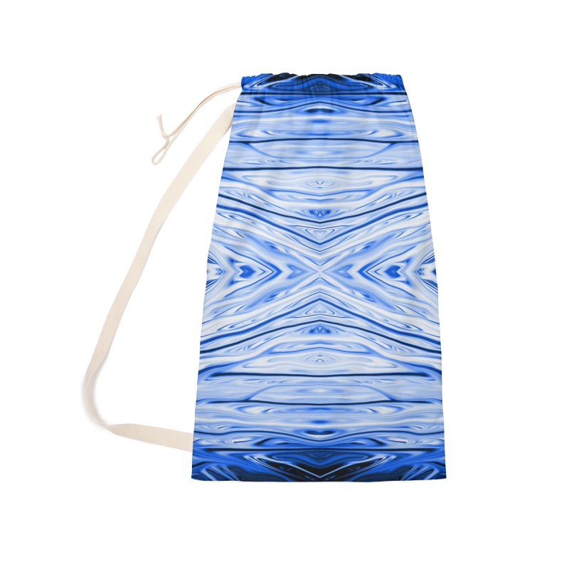 Blueberry Firethorn III by Chris Sparks Accessories Laundry Bag Bag by Chris Sparks' Abstract Art Shop