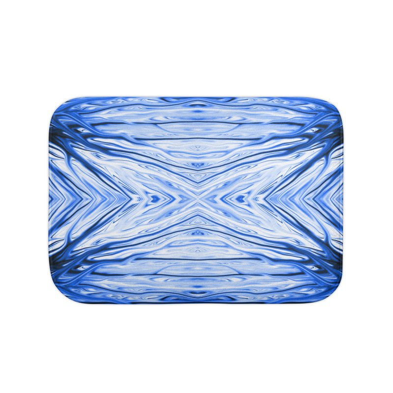 Blueberry Firethorn III by Chris Sparks Home Bath Mat by Chris Sparks' Abstract Art Shop