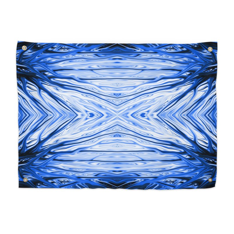 Blueberry Firethorn III by Chris Sparks Home Tapestry by Chris Sparks' Abstract Art Shop