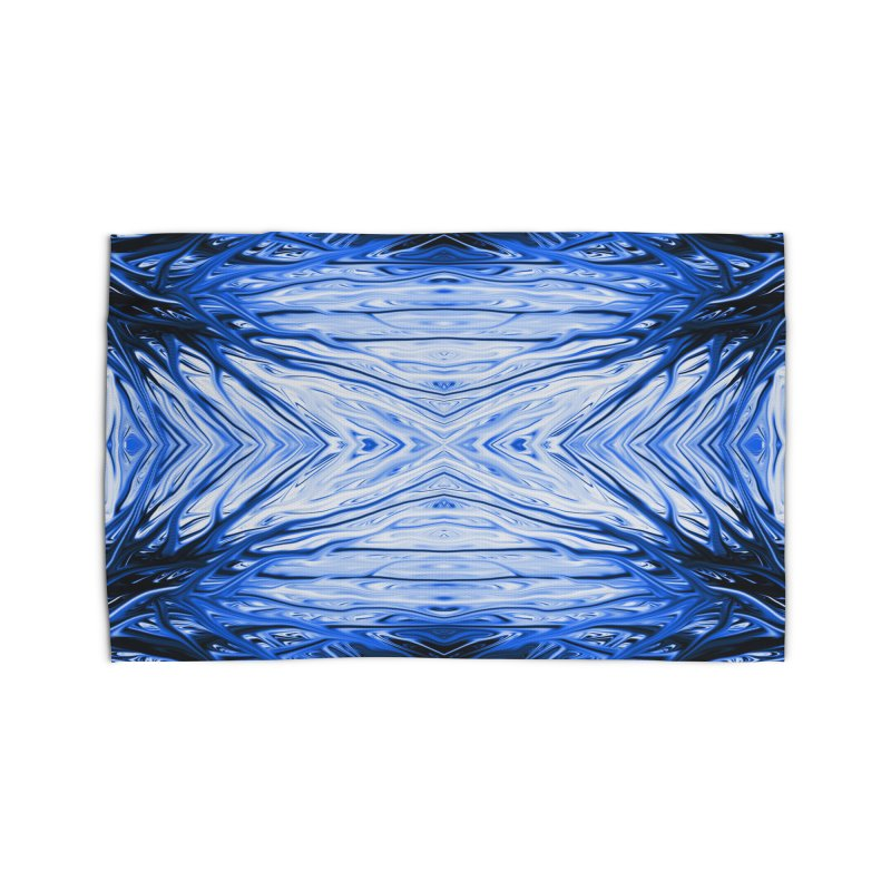 Blueberry Firethorn III by Chris Sparks Home Rug by Chris Sparks' Abstract Art Shop