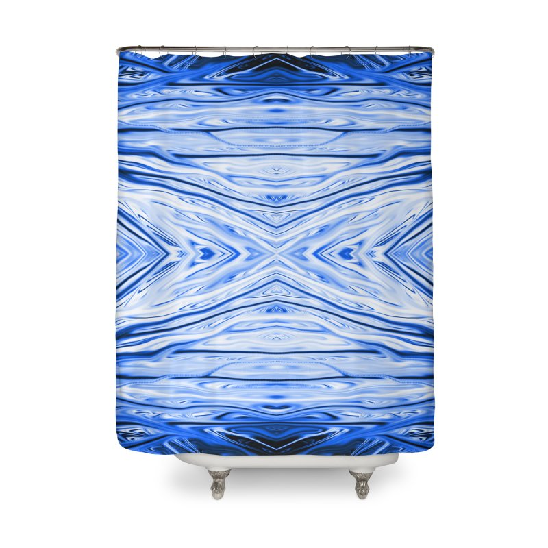 Blueberry Firethorn III by Chris Sparks Home Shower Curtain by Chris Sparks' Abstract Art Shop