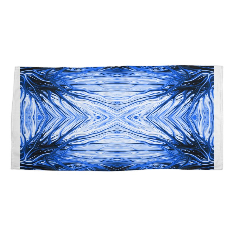 Blueberry Firethorn III by Chris Sparks Accessories Beach Towel by Chris Sparks' Abstract Art Shop