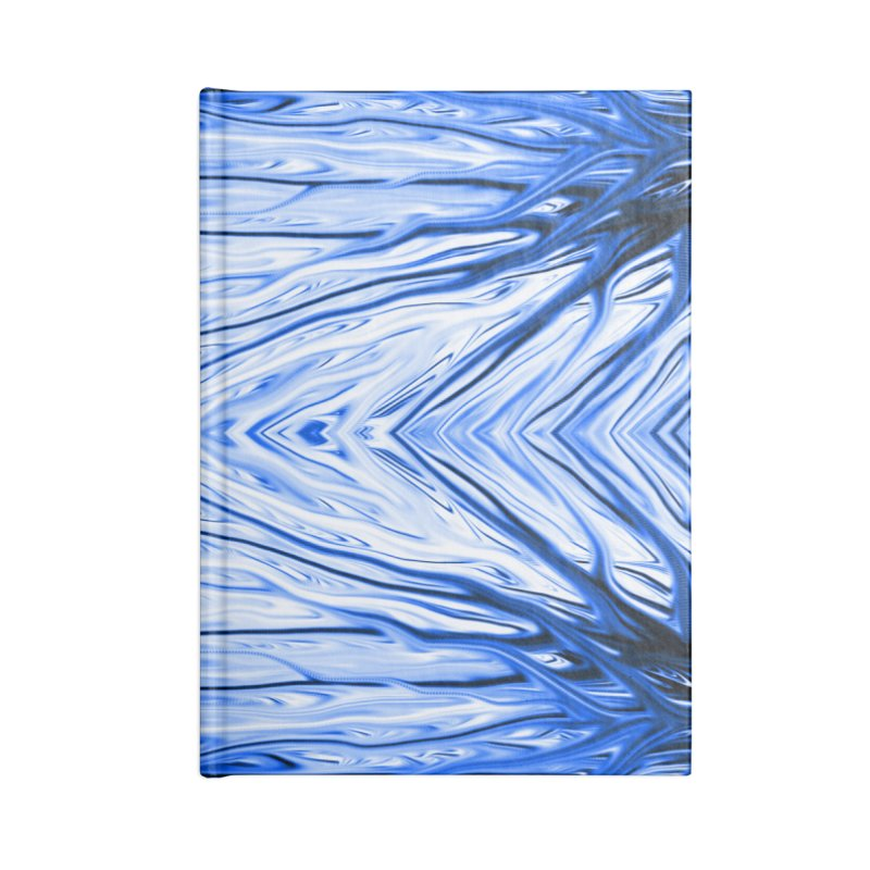 Blueberry Firethorn III by Chris Sparks Accessories Blank Journal Notebook by Chris Sparks' Abstract Art Shop