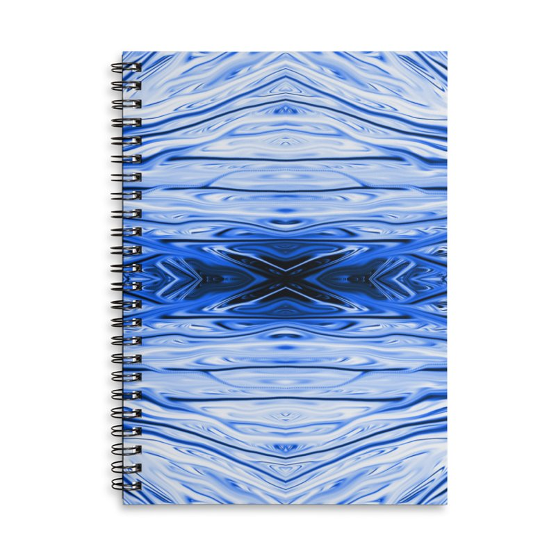 Blueberry Firethorn IV by Chris Sparks Accessories Lined Spiral Notebook by Chris Sparks' Abstract Art Shop