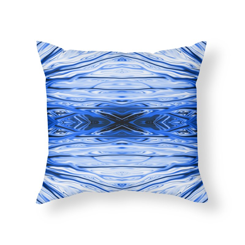 Blueberry Firethorn IV by Chris Sparks Home Throw Pillow by Chris Sparks' Abstract Art Shop