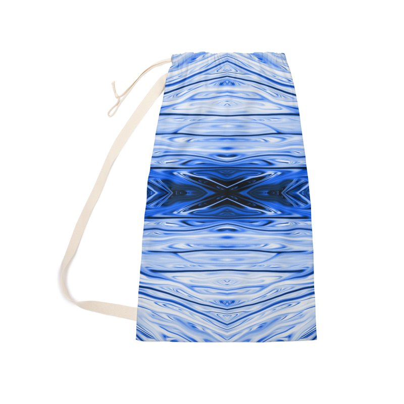 Blueberry Firethorn IV by Chris Sparks Accessories Laundry Bag Bag by Chris Sparks' Abstract Art Shop