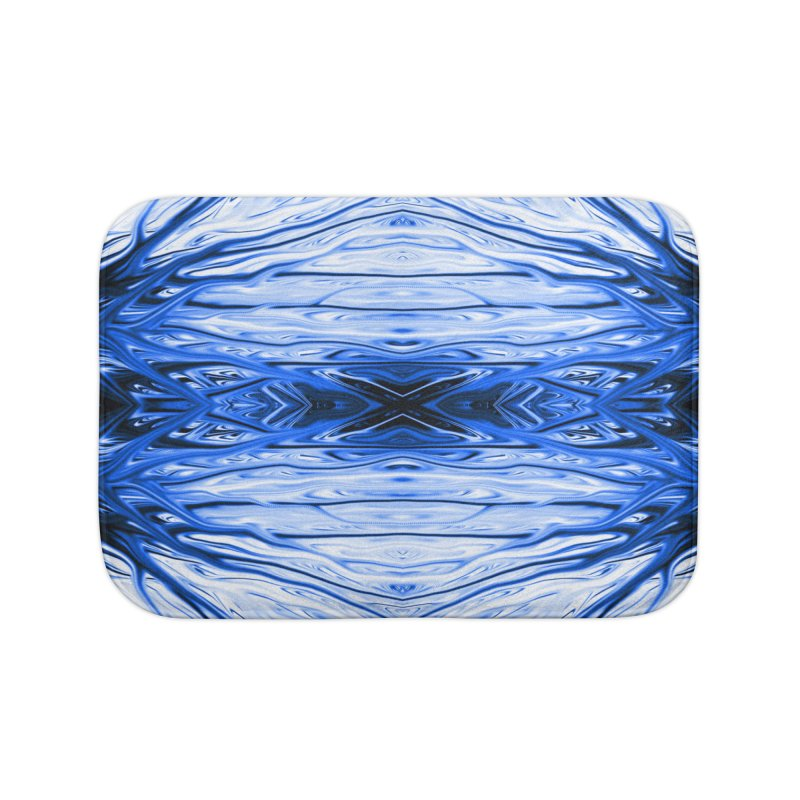 Blueberry Firethorn IV by Chris Sparks Home Bath Mat by Chris Sparks' Abstract Art Shop