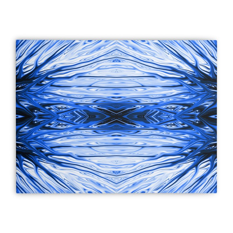Blueberry Firethorn IV by Chris Sparks Home Stretched Canvas by Chris Sparks' Abstract Art Shop