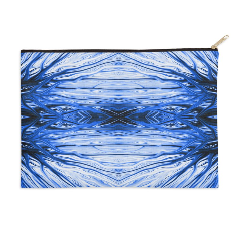 Blueberry Firethorn IV by Chris Sparks Accessories Zip Pouch by Chris Sparks' Abstract Art Shop