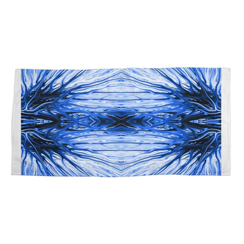 Blueberry Firethorn IV by Chris Sparks Accessories Beach Towel by Chris Sparks' Abstract Art Shop