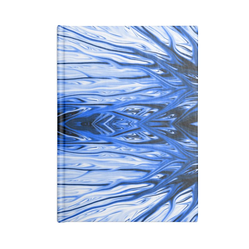 Blueberry Firethorn IV by Chris Sparks Accessories Lined Journal Notebook by Chris Sparks' Abstract Art Shop