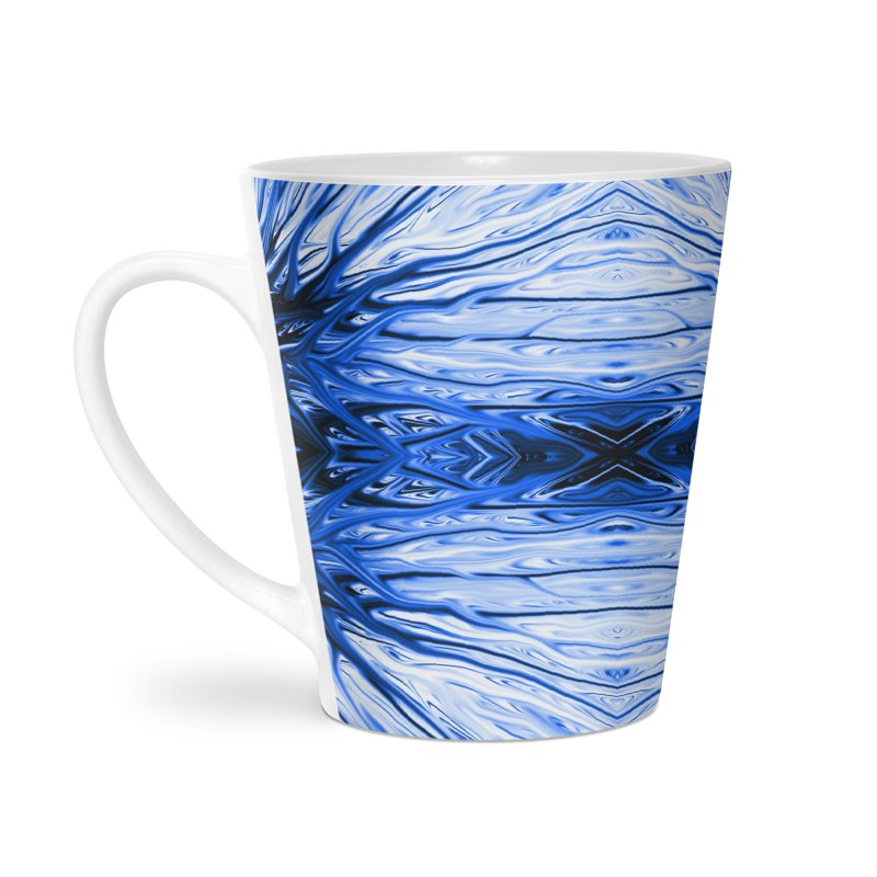 Blueberry Firethorn IV by Chris Sparks Accessories Latte Mug by Chris Sparks' Abstract Art Shop