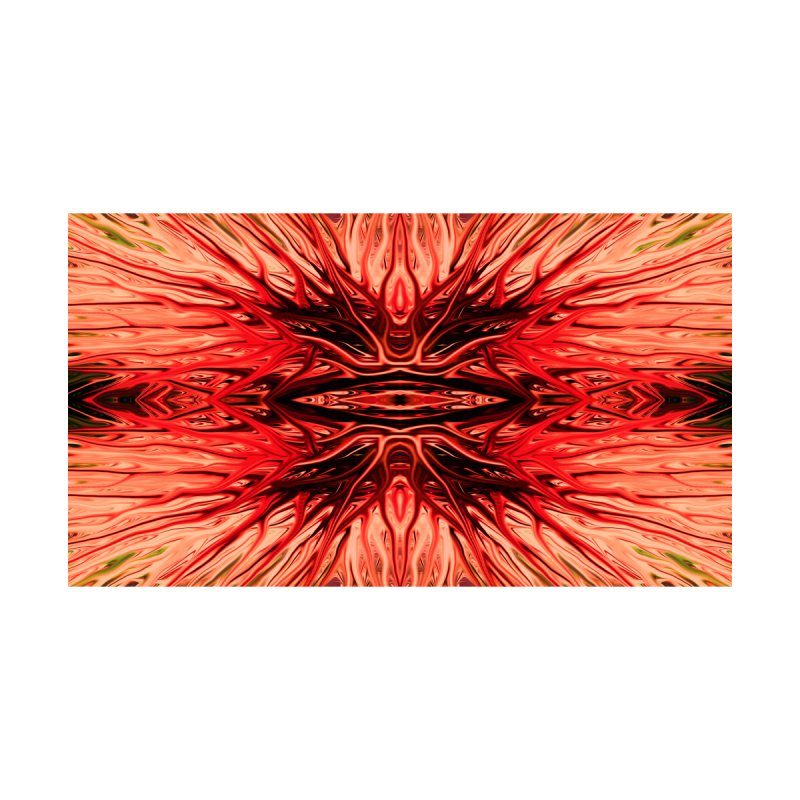 Strawberry Firethorn I by Chris Sparks Home Mounted Aluminum Print by Chris Sparks' Abstract Art Shop