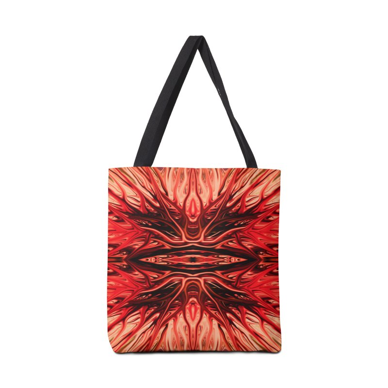Strawberry Firethorn I by Chris Sparks Accessories Bag by Chris Sparks' Abstract Art Shop