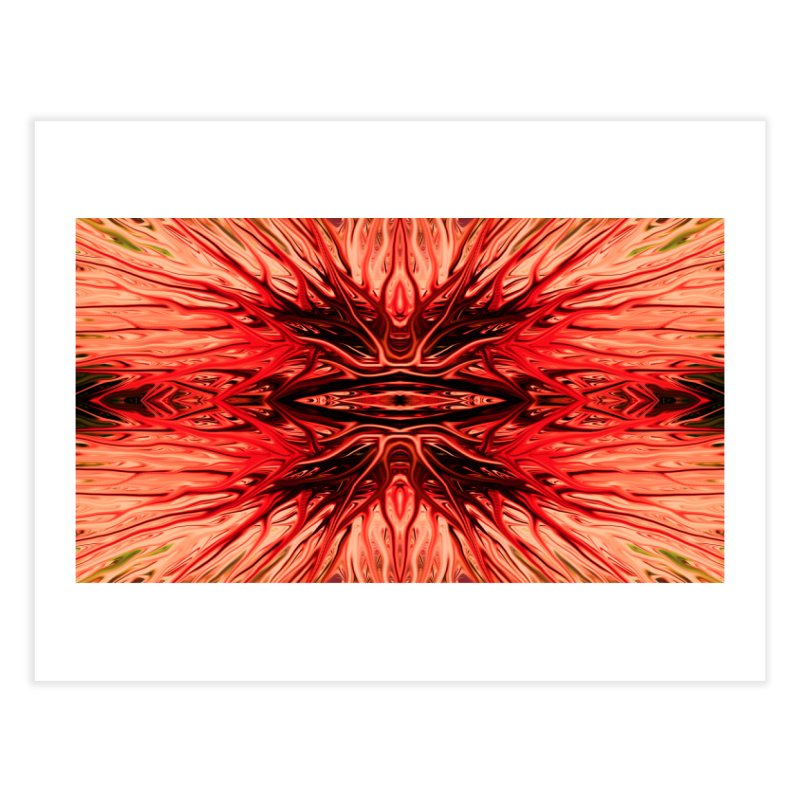 Strawberry Firethorn I by Chris Sparks Home Fine Art Print by Chris Sparks' Abstract Art Shop