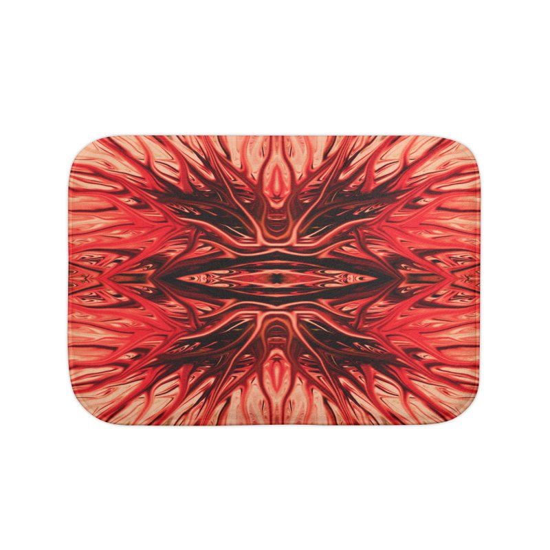 Strawberry Firethorn I by Chris Sparks Home Bath Mat by Chris Sparks' Abstract Art Shop