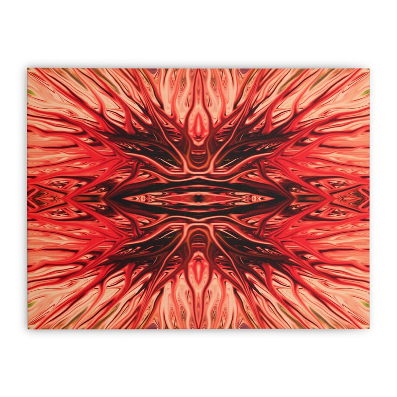 Strawberry Firethorn I by Chris Sparks Home Stretched Canvas by Chris Sparks' Abstract Art Shop