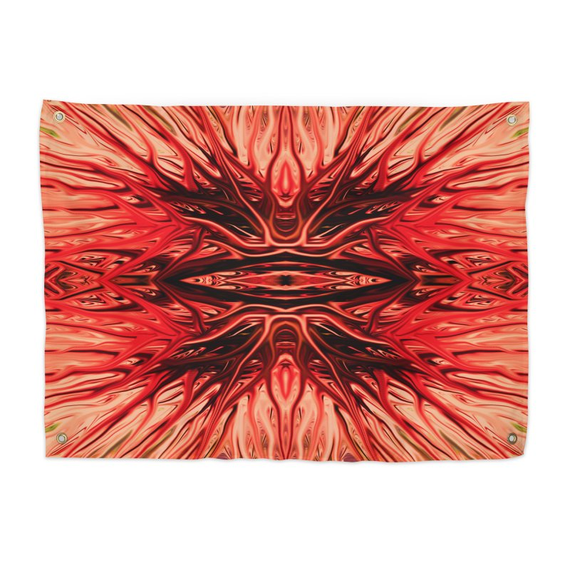Strawberry Firethorn I by Chris Sparks Home Tapestry by Chris Sparks' Abstract Art Shop
