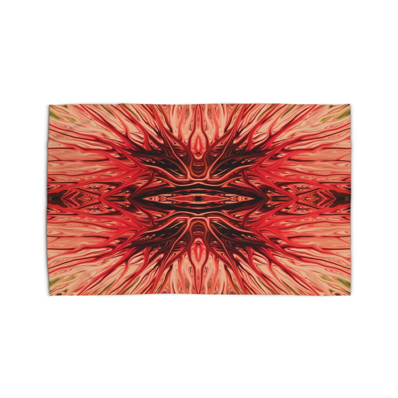 Strawberry Firethorn I by Chris Sparks Home Rug by Chris Sparks' Abstract Art Shop